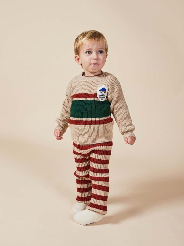 Boy Patch Jumper Striped Knitted LeggingsBobo AW20 –