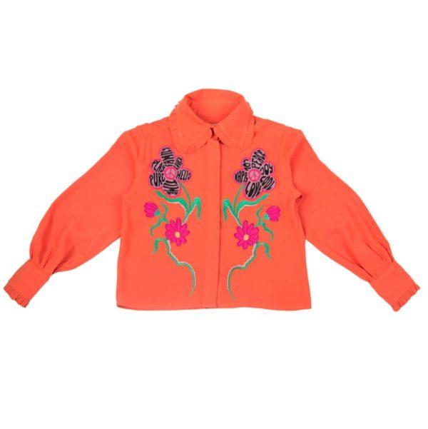 Daya Blouse Orange (1)