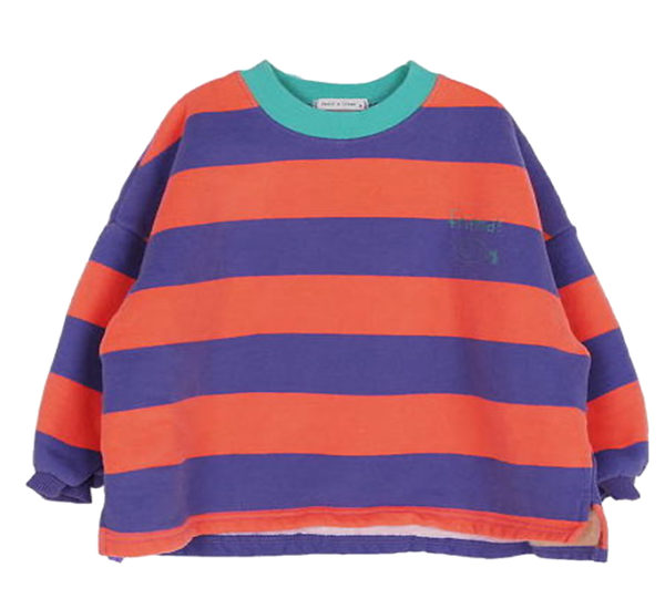 Friends Stripe Boxy Pullover