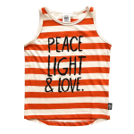 PEACE AND LOVE Longline Tank copy