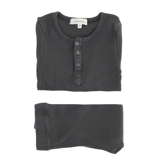 Ribbed Button Twin Set