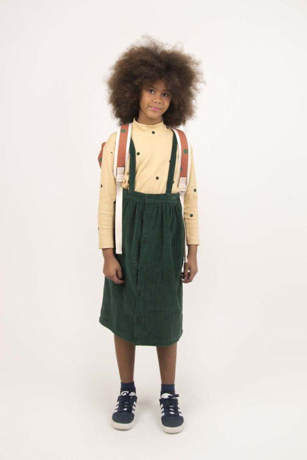 Solid Braces Midi Skirt