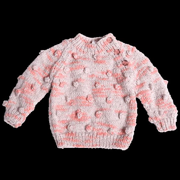 Hand Knit Bobble Pullover-min