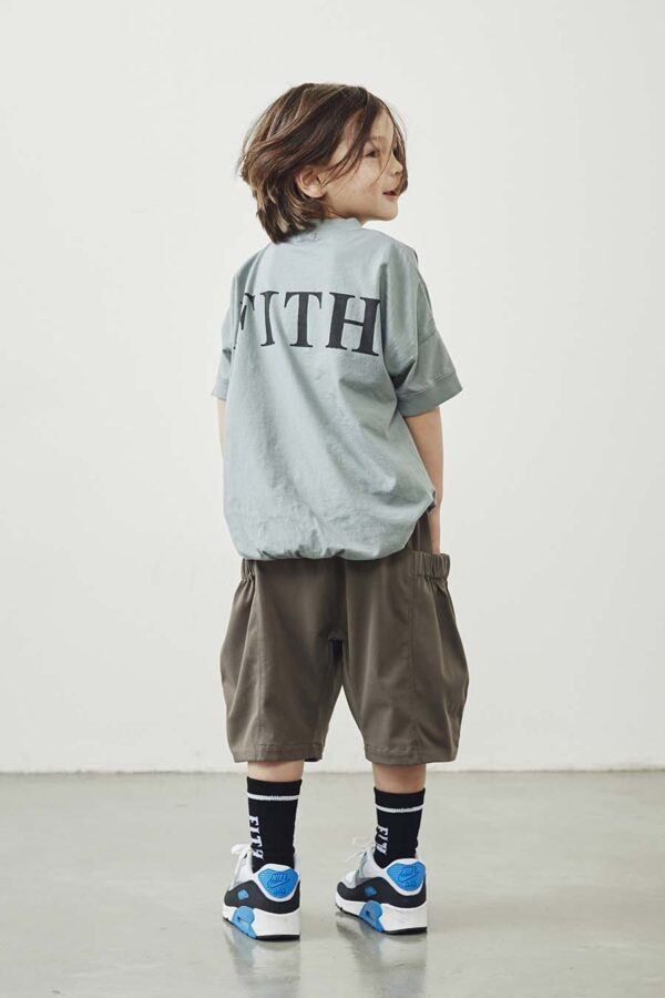 Knit Stretch Threequarter Length PN Tenjiku Pocket T-Shirt copy