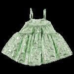 Mini Skirt Metallic Green-min
