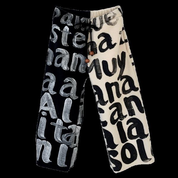 Trousers Ecru X Black-min